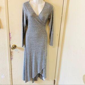 GAP Gray Wrap Dress
